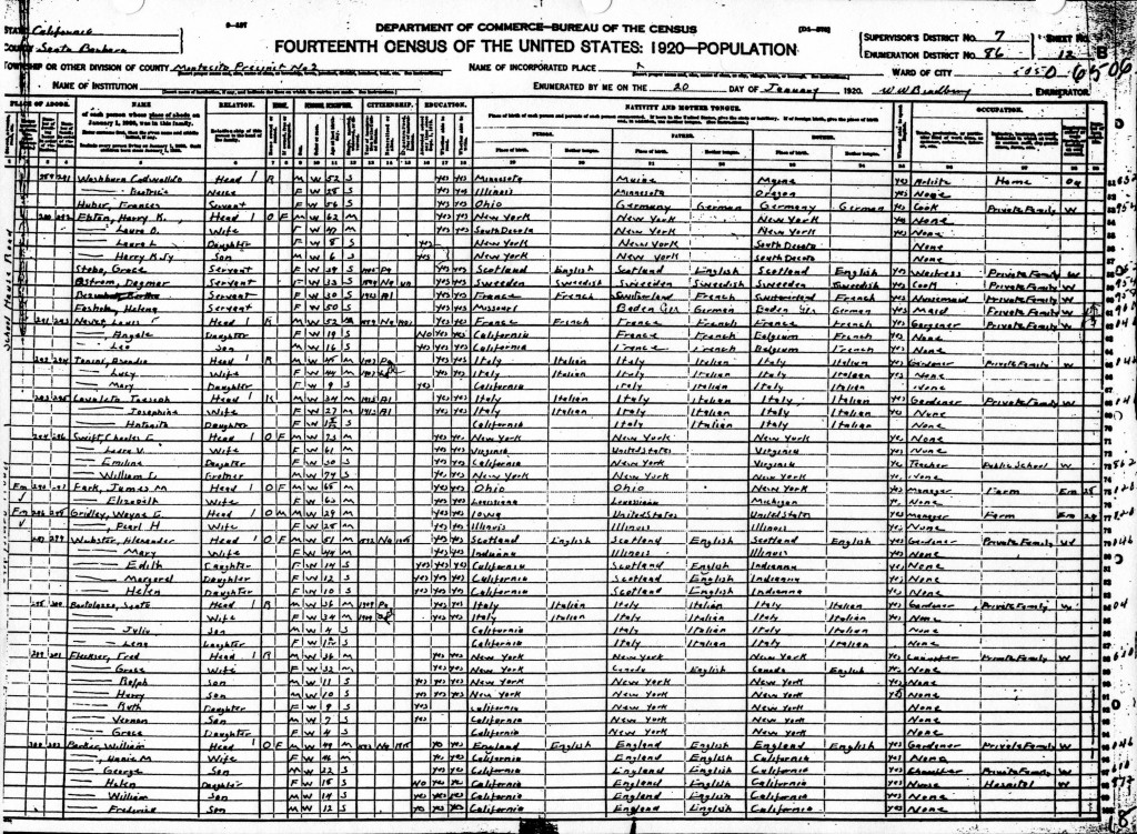 1920 Census 1